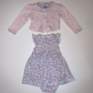 Carter's Baby Girl Dress With Sweater NWOT